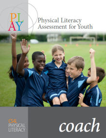 The image depicts the cover for the PLAYCoach resource page with 4 soccer kids carrying a female athlete in celebration
