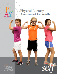 The image depicts the cover for the PLAYSelf resource page with 3  girls flexing their biceps